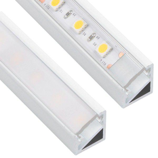 Design Light corner LED profile TRI-LINE MINI white milky & transparent cover