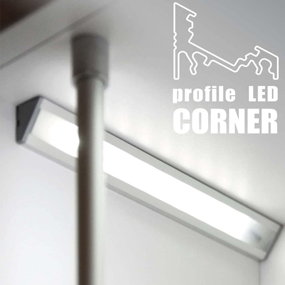 Corner aluminium profile for LED strip