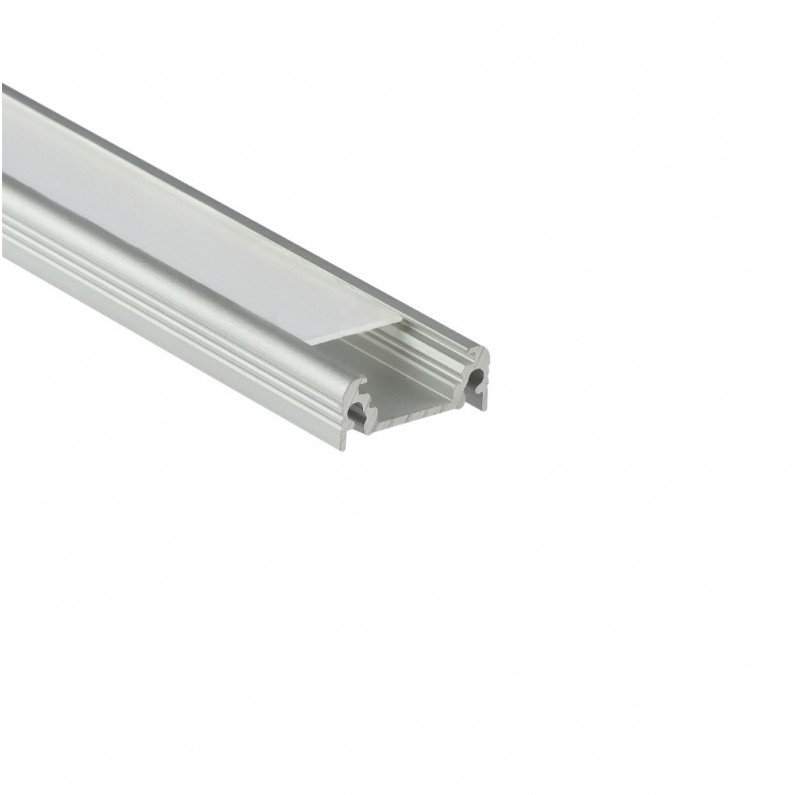 TOPMET anodised aluminium LED profile SURFACE10 BC/UX silver 1m 2m LED strip channel
