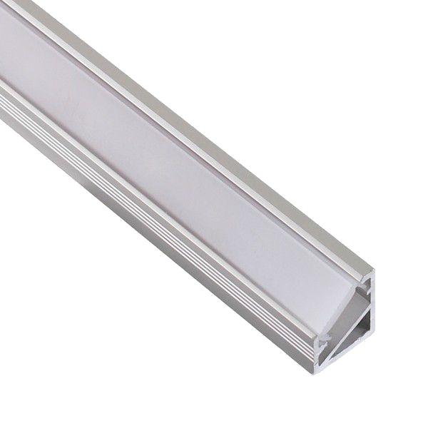 Design Light corner LED profile TRI-LINE MINI silver milky cover