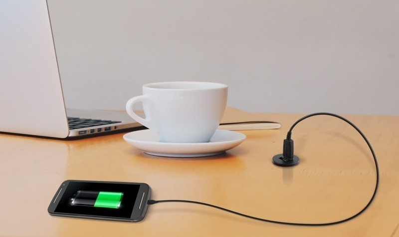 Furniture USB smartphone charger