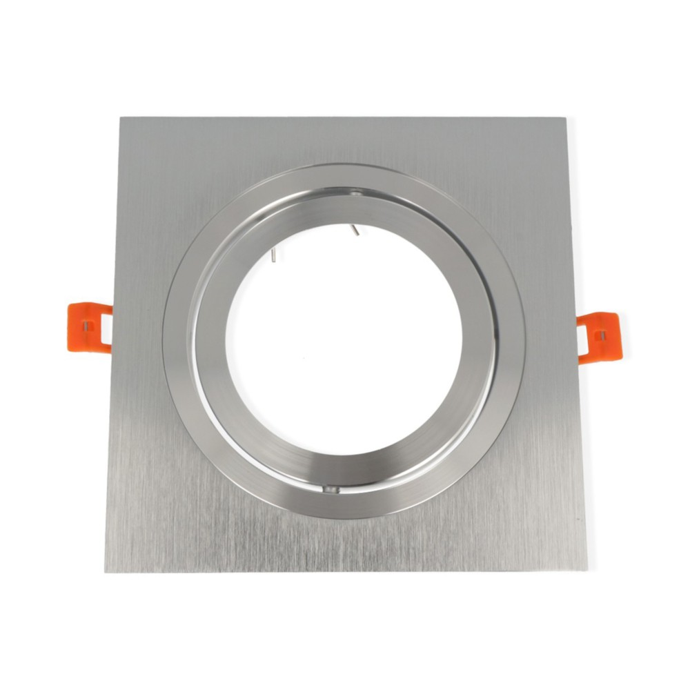 LED line® AR111 square adjustable ceiling single downlight silver. Ideal for lighting flats (suspended ceilings, lightin