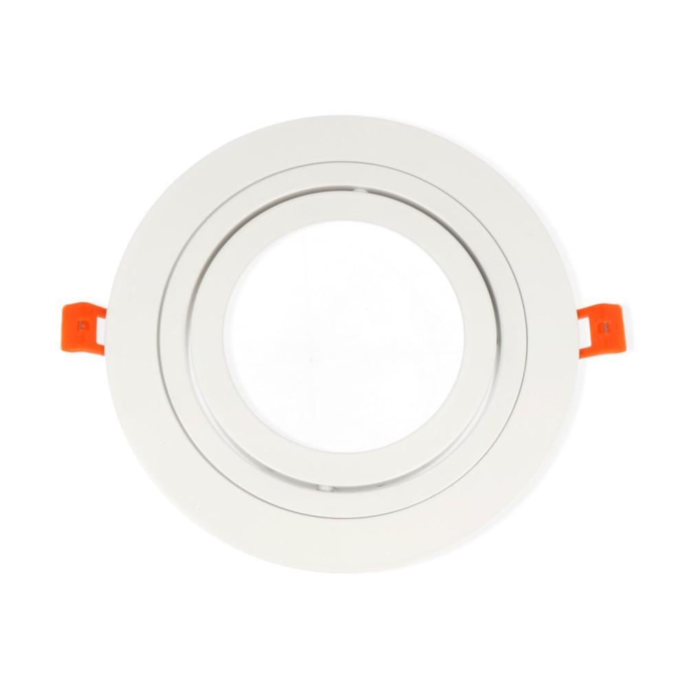 LED line® AR111 round adjustable ceiling single downlight white matt.Ideal for lighting flats (suspended ceilings, ligh