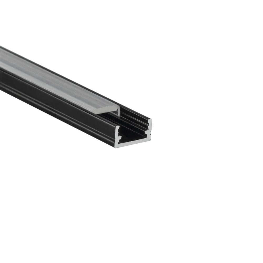 DESIGN LIGHT surface aluminium LED profile LINE MINI black milky cover