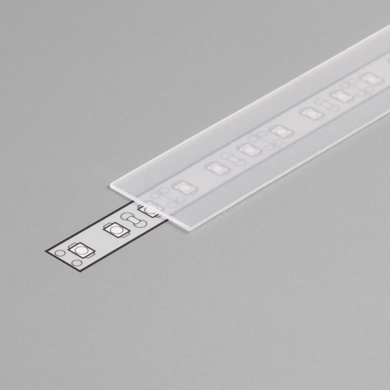 TOPMET aluminium profile frosted E slide cover -