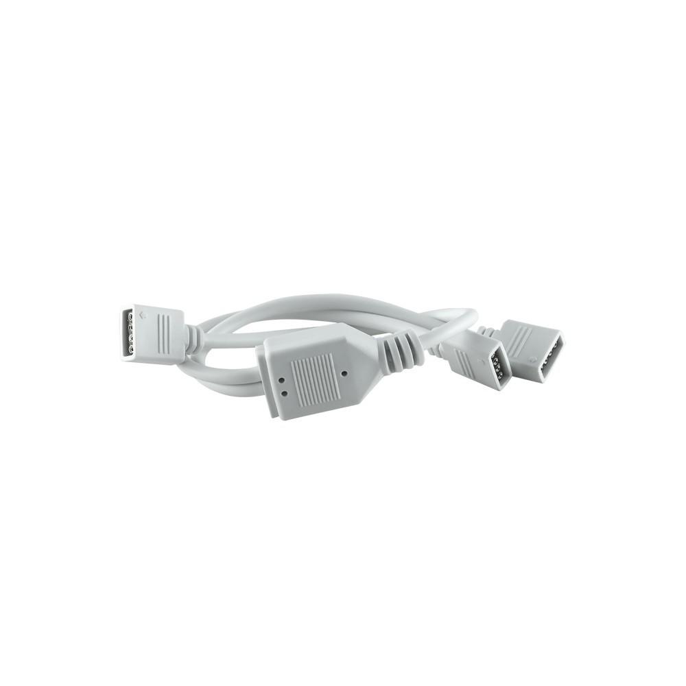 4 pin RGB LED strip 2-way splitter white -