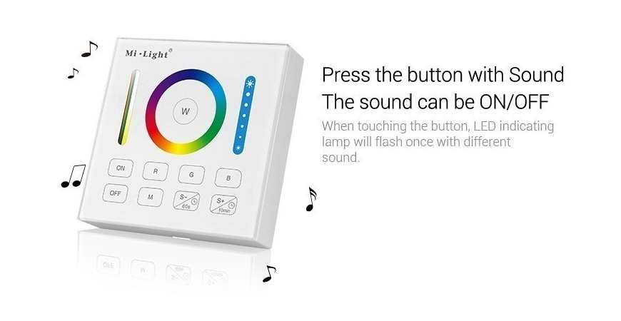 How to disable/enable sound on Mi-Light wall panels?