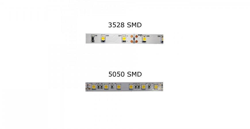 Flexible SMD LED Light Strips - 3528 vs 5050 Comparison