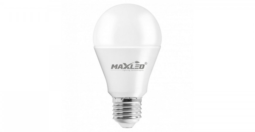 MAX-LED 12W LED bulb replaces 75W incandescent bulb