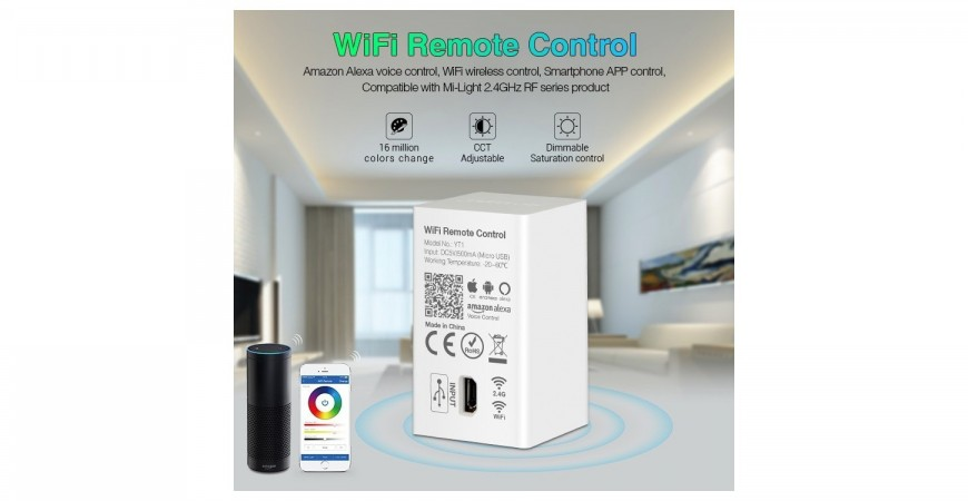 The unique functions of Mi-Light WiFi remote control YT1