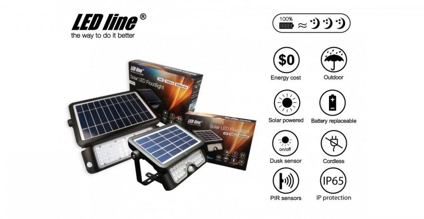 Solar LED floodlights - reassuring and satisfying guaranteed