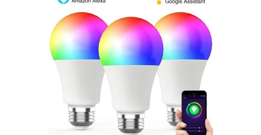 Voice-controlled light bulb